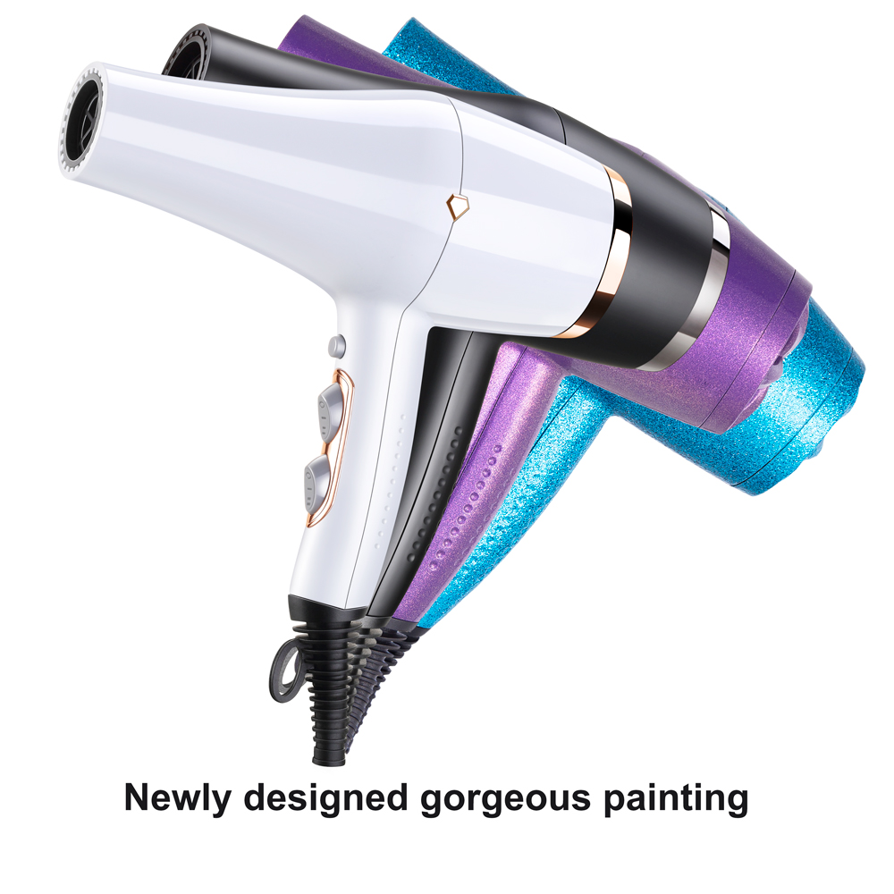 Fashion salon blow dryer 2000w cold air light silent hair dryers
