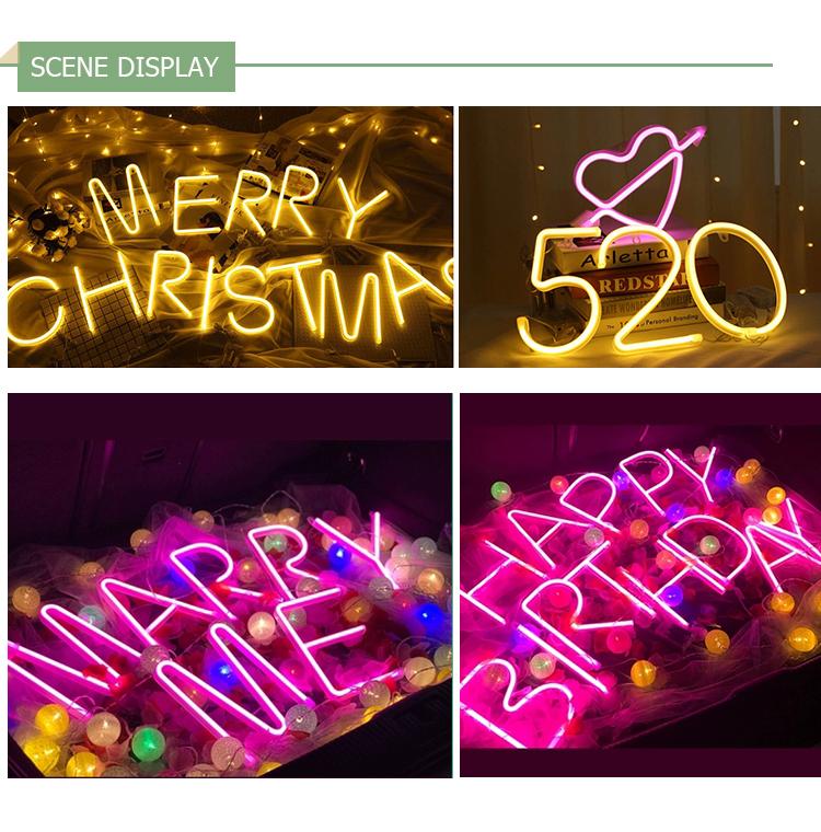 # LED Rumah LED Tali Pernikahan Dekorasi NEON SIGN Bar Grosir Lampu-lampu Neon