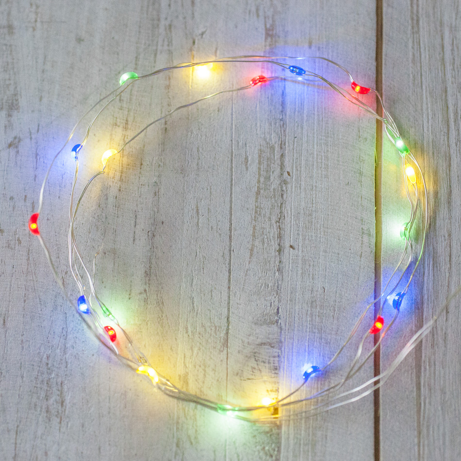 Battery Adapter Powered Color Changing Copper Wired Invisible Mini Led Strand Light Chain