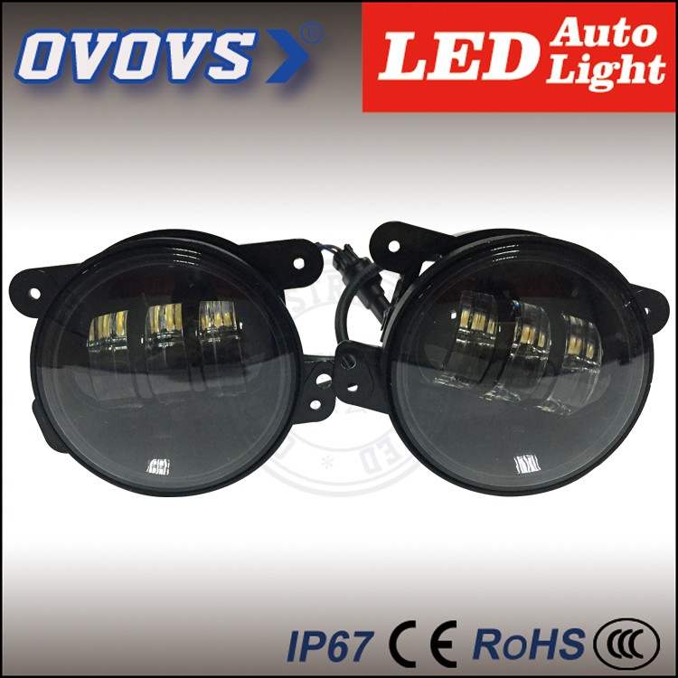 New arrival 4 inch 30W led 12v offroad fog light without halo for J-eep wrangler