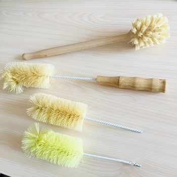 wooden/bamboo handle sisal brush cleaning bottle wine beer pipe cleaner brushes