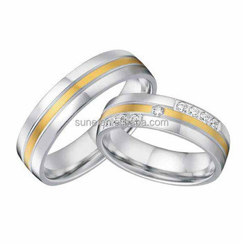 luxury bamoer jewelry ring surgical steel promise ring gift for wedding