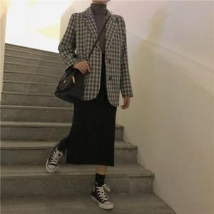Autumn fashion school Long Casual suit Women Coats
