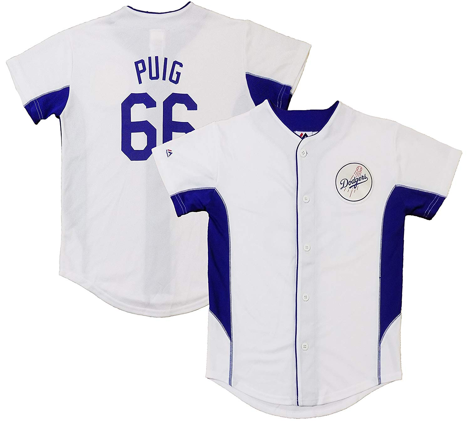 ... new zealand get quotations outerstuff yasiel puig los angeles dodgers  white kids team leader replica jersey ed17cbe14