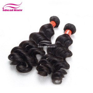 KBL Grade weave 7a 100% virginhair relaxing products human hair weave color #4, hair relaxing products, color hair