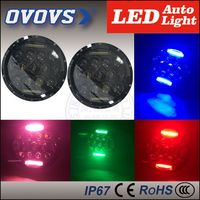"OVOVS 4x4 off road driving lights round75w 7""led motorcycle headlight for j-eep wrangler with turn signal function"