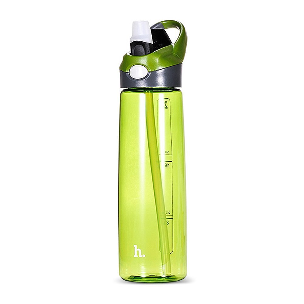 Active Sports Bottle,JGOO 0.7 Litre[High Temperature Resistance]Straw Cups Drinking Bottle with One Click Open Pop-up Straw& Climbing Hook,Eco Friendly & BPA-Free Plastic for Running,Gym,Yoga,Cimbing ,Camping and Oudoors