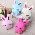 2Pcs Set Kawaii Rabbit Mini Dolls Kids Stuffed Animal Plush Toys Flower Bouquets Bear For Wedding