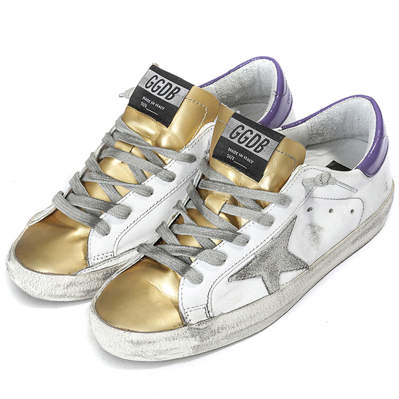 069653ddf869 Buy Golden Goose White And Gold Sneakers Women Restore Ancient Ways Do Old Shoes  GGDB Men Genuine Leather Shoes Scarpe Casual Uomo in Cheap Price on ...