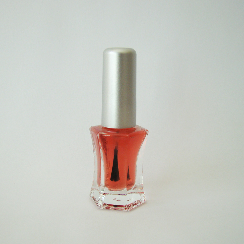 8ml cosmetic empty nail polish bottle with cap and brush