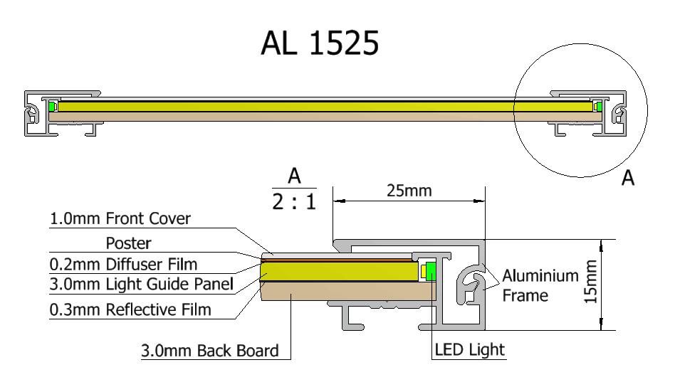 Led Light Box Snap Frame,Led Slimline Light Box,Clip Backlit Poster ...