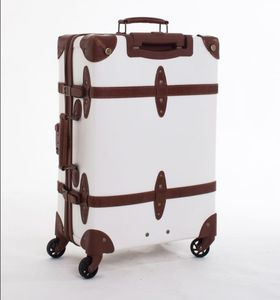 773f14d14d38 Pu Leather Vintage Luggage Set Carry On Suitcase for Womens