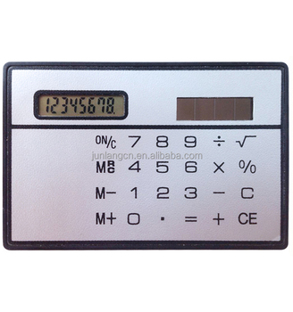 Credit Card Size Calculator Pocket Calculator Solar Power - Buy ...