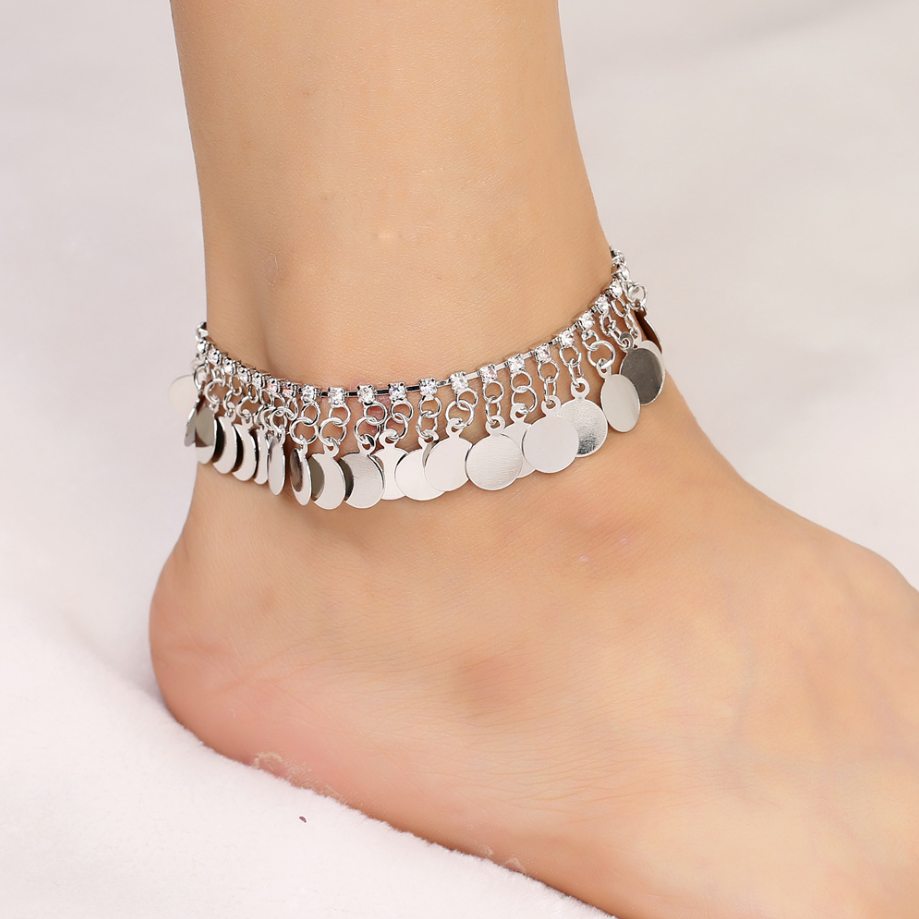 anklet silver eternity br anklets locking chain sterling