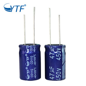 Electrolytic Testing Double Miniature 450V 47UF Aluminum Capacitor For Ceiling Fan