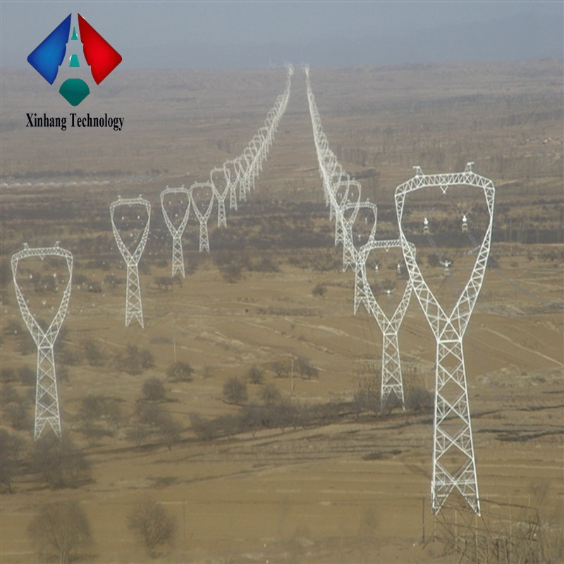 132kv power utility poles polygonal tower galvanized steel electric pole