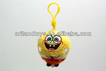New yellow laugh animal plush doll keychain Key Clip