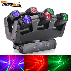 China suppliers led lighting 6*10w six shooter moving head light for night club pro dj stage light