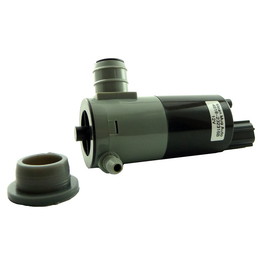Mean Mug Auto 4818-232316B Windshield Washer Pump w/Grommet - For: Chrysler, Dodge, Jeep, RAM - Replaces OEM #: 5103452AA, 55077241AB