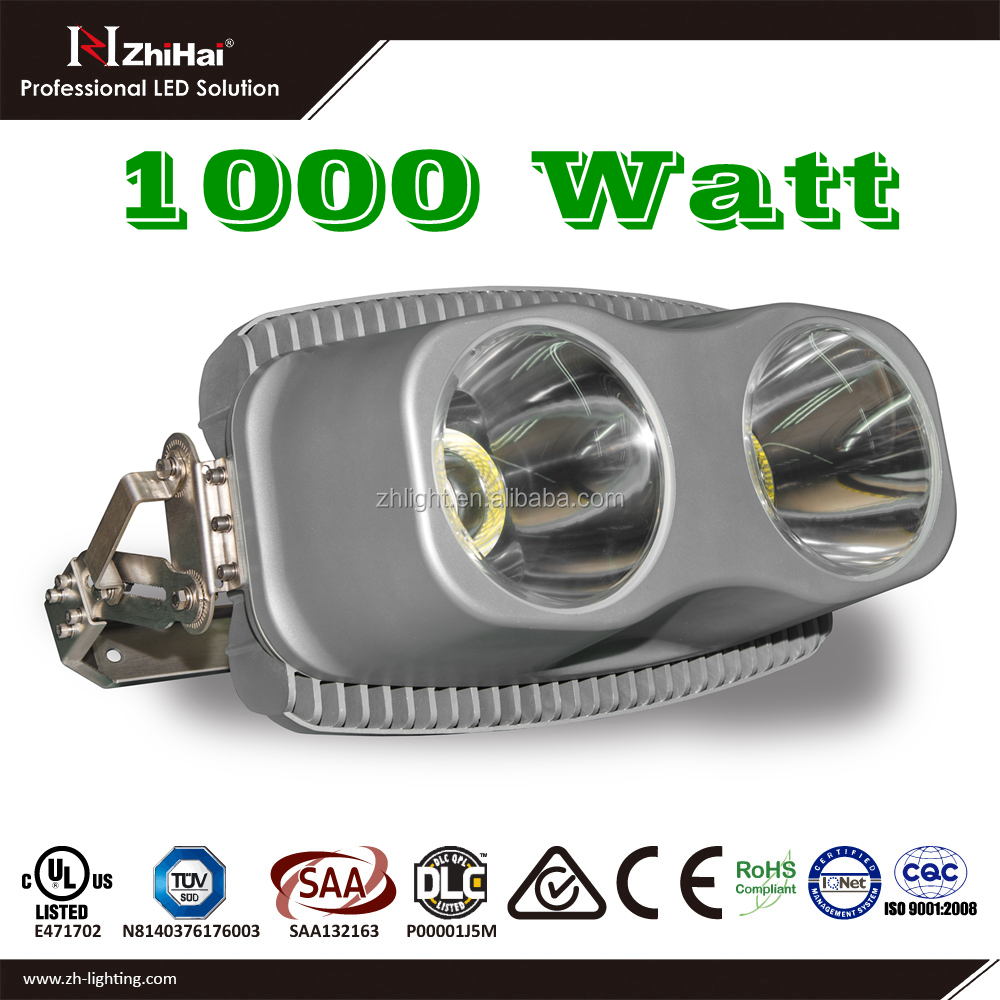 5 years warranty die cast aluminum led flood light housing 1000w with 15 degree beam angle