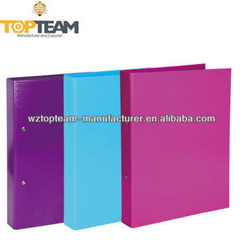 solid colour a4 cardboard 2 round ring binder 1 inch paperboard file