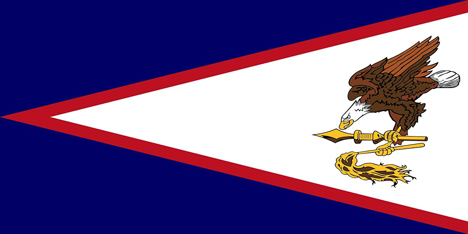 Table-Flag / Desk-Flag: American Samoa 15x25cm