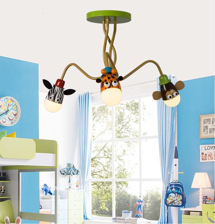 Most Por Animal Design Cartoon Zebra Giraffe Monkey Childrens Lights For Bedrooms Led Hanging Light Fixtures