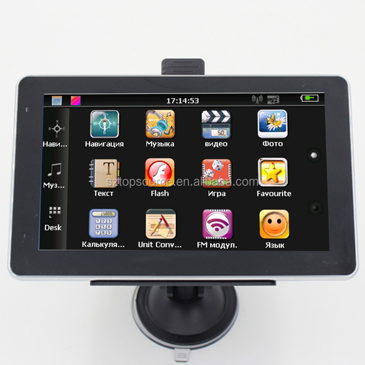 7 inch Gps navigation navigator cpu 800mhz CE6.0 FM 4GB DDR 128M MSTAR WITHOUT AVIN BLUETOOTH