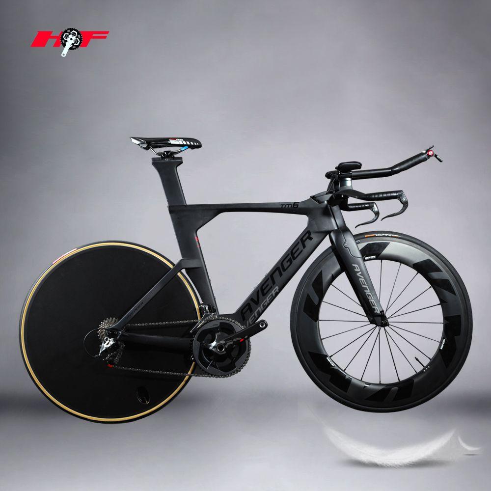 48/51/54/56/58cm Time Trail hot sales Road Carbon fiber TT Frame triathlon for avenger tm6 paint complete bike