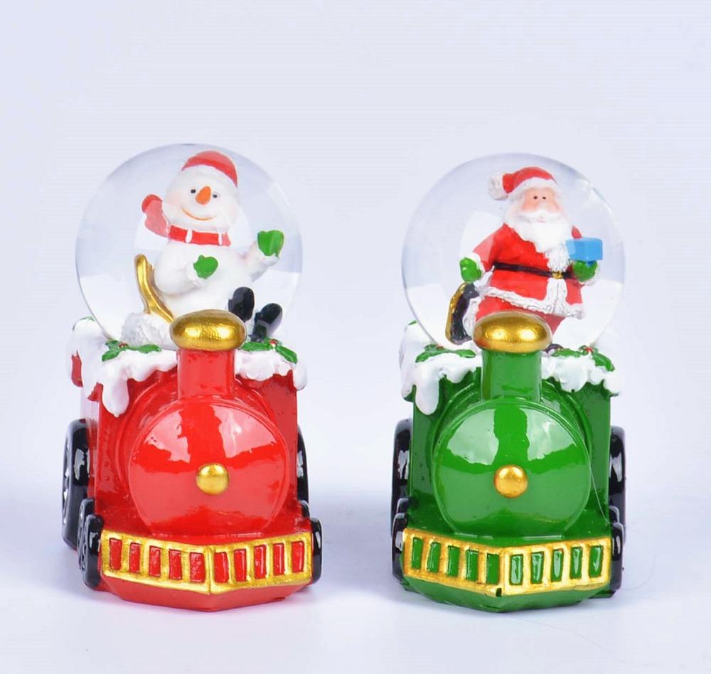 EXW Custom Creative Christmas Souvenir Resin Santa Claus Snow Globe Water Globe Snowman Water Globe