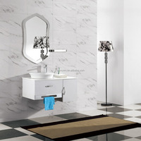 BONNYTM BN-8427 Modern Hotel 201/304SS White Color Cheap with Integrated Ceramic Basin Quality Bathroom Suites