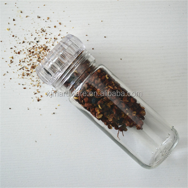 mini spice grinder mill / salt grinder / plastic pepper
