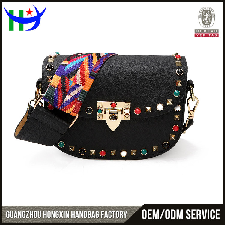 women handbags 2017 new models black studded leather bag