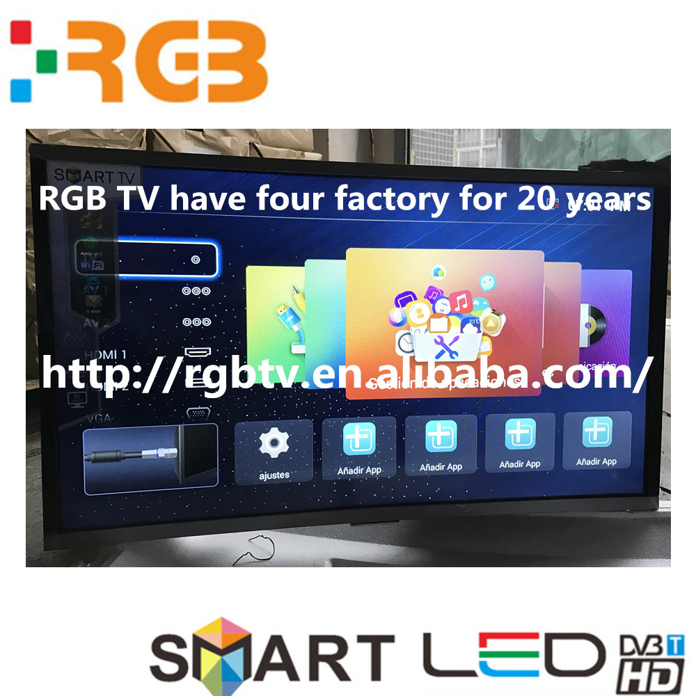 2017 new model 32'' to 65''inch LED TC Full HD Smart curve screen Television