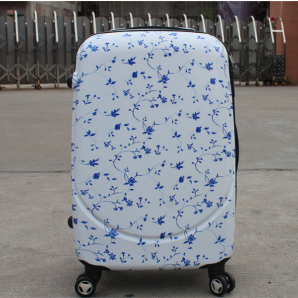 2016 classical design outdoor royal polo pc colorful travel luggage trolley case