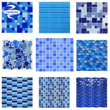 New Design Generous Simple Blue White Swimming Pool Glass Mosaic Tiles -  Buy Swimming Pool Tile,Swimming Pool Mosaic Tiles,Glass Swimming Pool  Product ...
