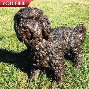 Lovely Long Haired Decorative Garden Bronze Yorkshire Terrier Statue Buy Bronze Yorkshire Terrier Statue Garden Yorkshire Terrier Statue Decorative