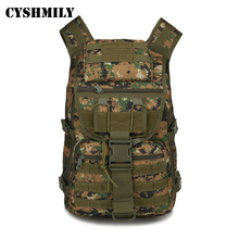CYSHMILY Hot outdoor waterproof custom colour military sports tactical backpack bag