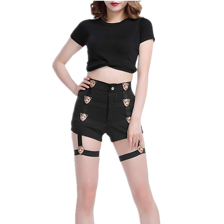 DanceNwear Little Girls V-Waist Spliced Style Dance Shorts