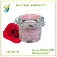Rose oil Organic Dead Sea Bath Salt Dry & Clean Colored Purified.