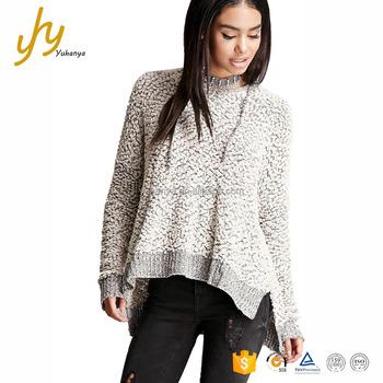 4255da995a Fuzzy Popcorn Knit Contrast Ribbed Trim Vented Hem Drawstring Hood Lady  Sweaters - Buy Lady Sweaters,Hood Lady Sweaters,Drawstring Hood Lady  Sweaters ...