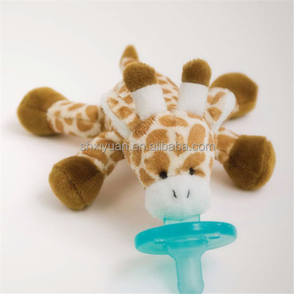 Wholesale custom promotional stuffed animal baby plush toy pacifier