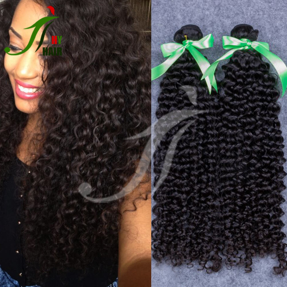 Alibaba Express Wholesale Virgin Hair Extension/Thick End kinky Curly Human Hair Bundles Weft 100 Real Brazilian Remy Human Hair