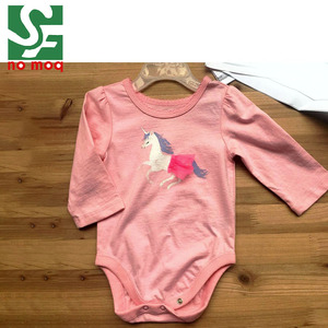 100% cotton print baby suit long sleeve baby romper