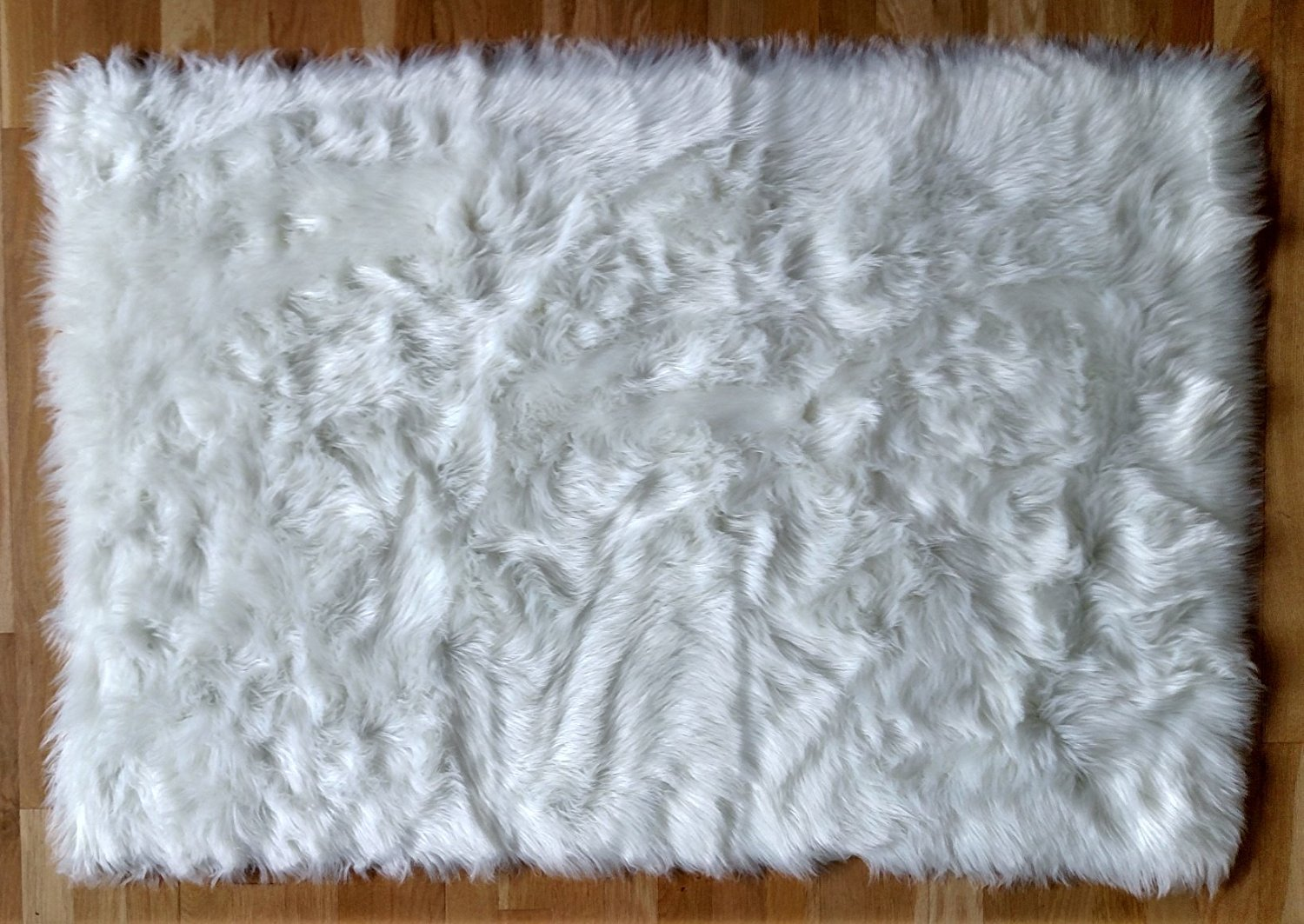 Get Quotations Faux Fur Rug Sheepskin White Area 3x5 Flokati Gy