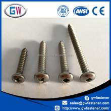 304 316 Stainless Self Tapping Square Pan Head 8g Screws