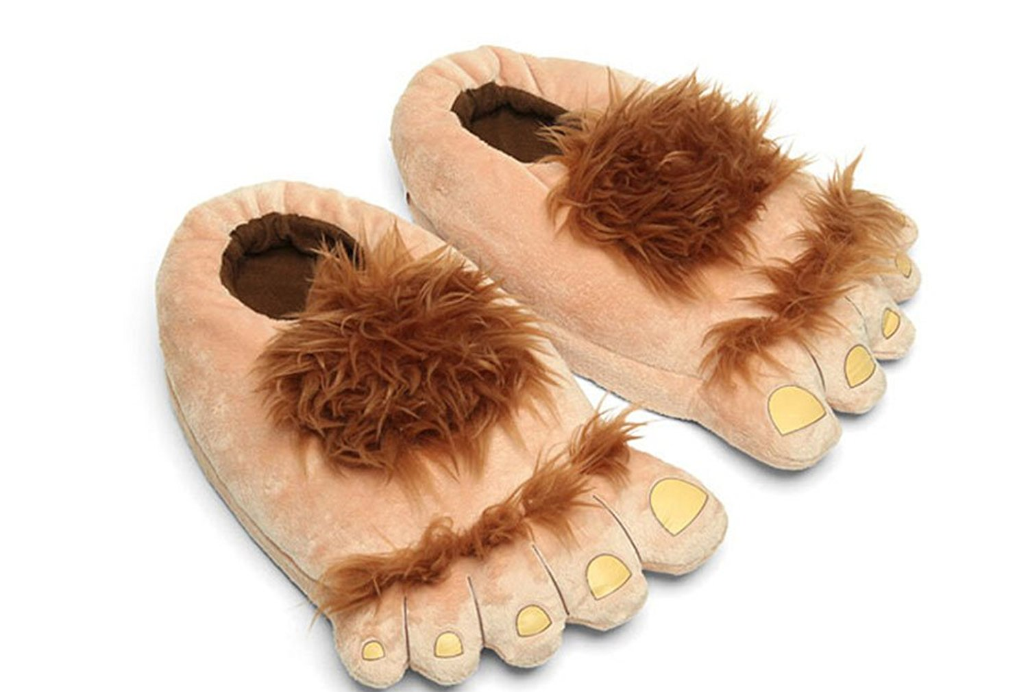 237698363c70 Veribuy Novelty Warm House Slippers Hobbit Savage Furry Adventure Slippers  For Adults