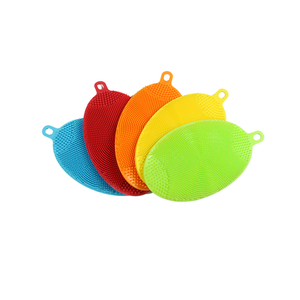 Kitchen Cleaning Hand Washing Antibacterial Silicone Dish Scrubber Sponge