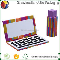Eyeshadow Makeup Paper Palette/ Empty Eye shadow Packaging/ Cosmetic Paper Box with Mirror