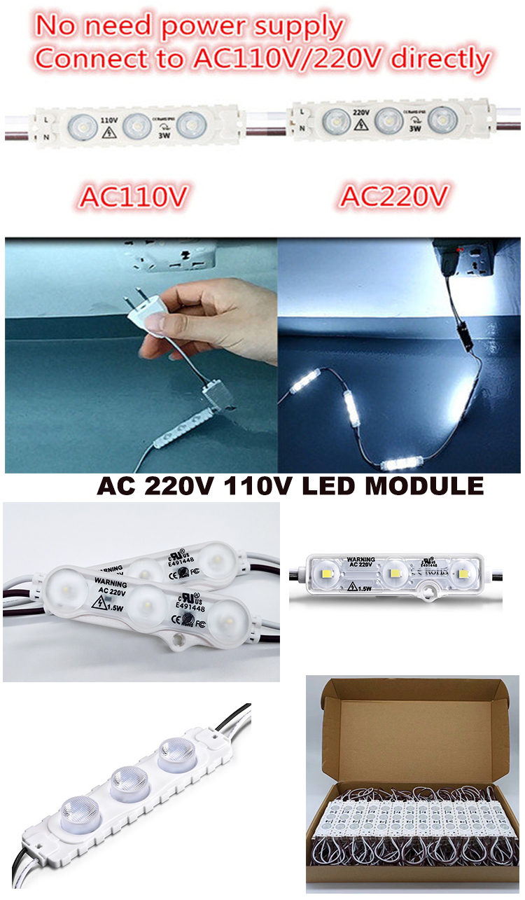 AC led module 220V 110V advertisement led light module light